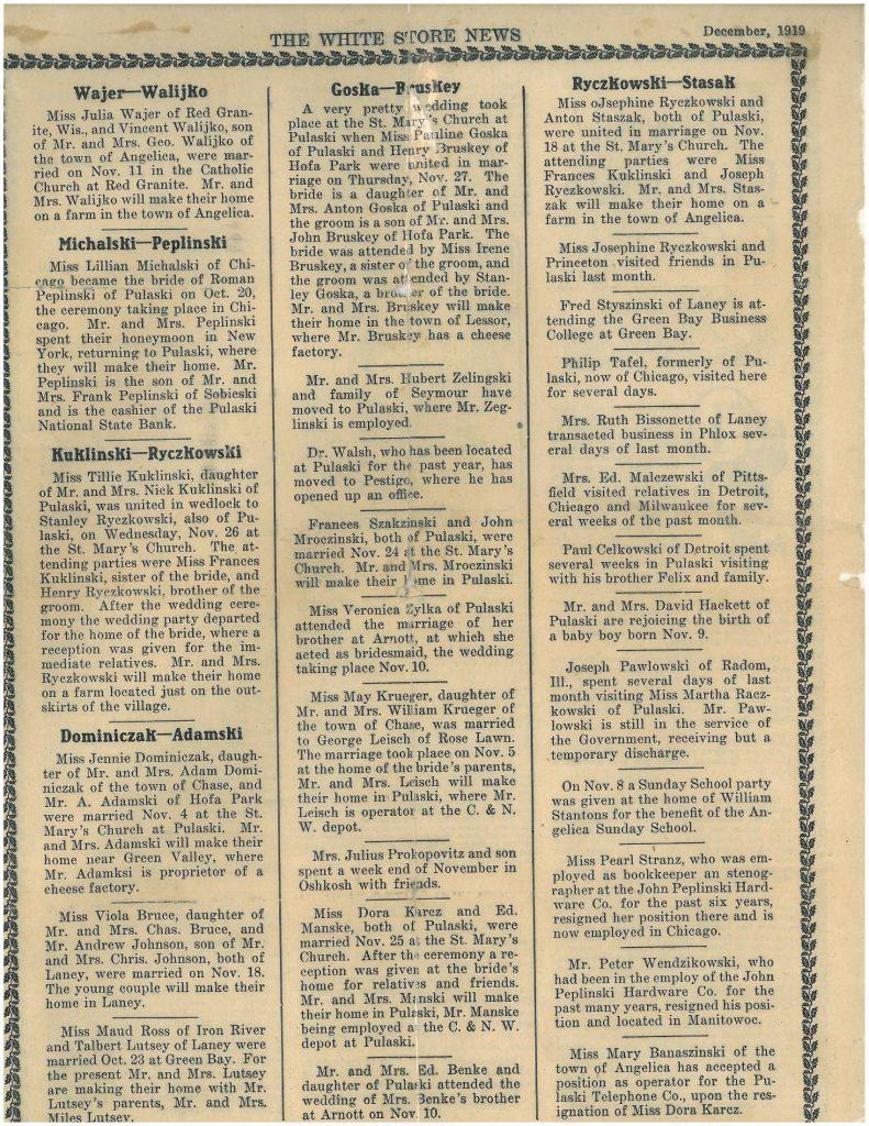 White Store News, December 1919.