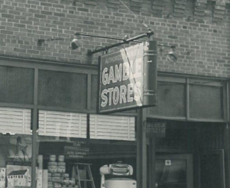 Photos of Gajewski's Gamble Store 1934