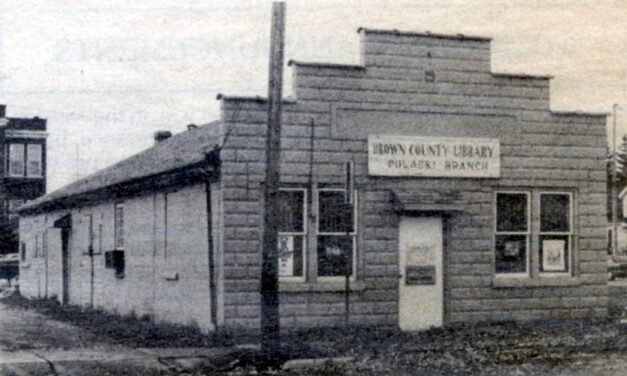 Do you remember the Brown County Library in Pulaski – near Glenbrook School?