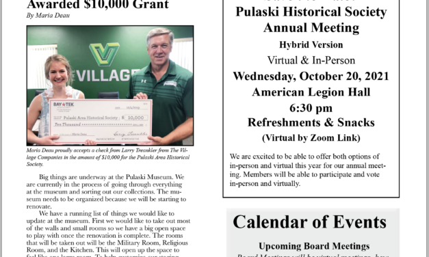 PAHS Summer 2021 Updates from the Board of Directors